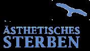 Logo ästhetisches Sterben mit Lachen und Meditation